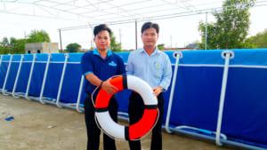 Thi công bể bơi di động tại Hàm Thuận Bắc