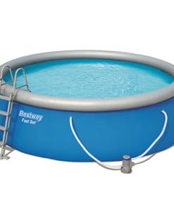 Bể bơi bơm hơi tròn Bestway 57289 - 4.57m x 1.22 - 13807l - Màu xanh lơ